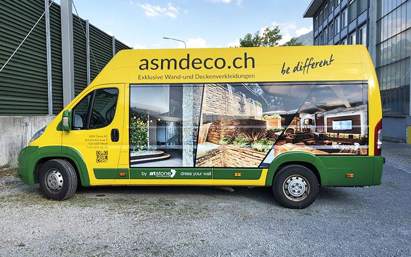 ASM Deco AG | Fahrzeugbeschriftung Back