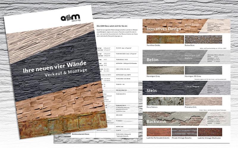 Verkaufsförderung für die ASM Deco AG durch Egli-Werbung