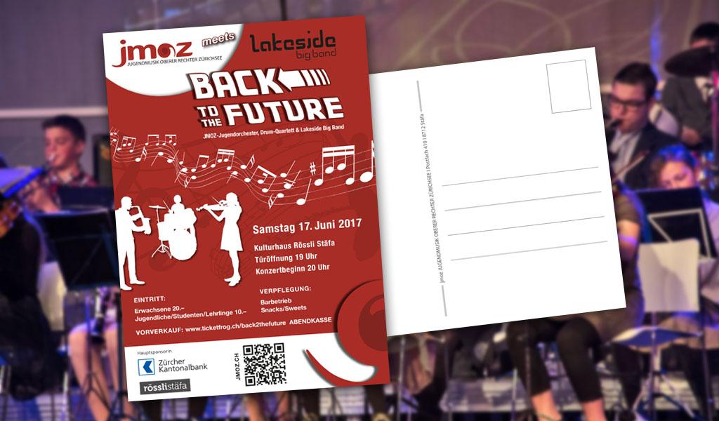 Design der Postkarte fürJimoz durch Egli-Werbung & Newmedia-Design