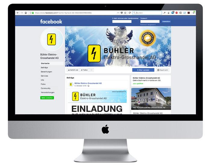Social Media | Facebook KMU | Bühler Elektrogrosshandel AG