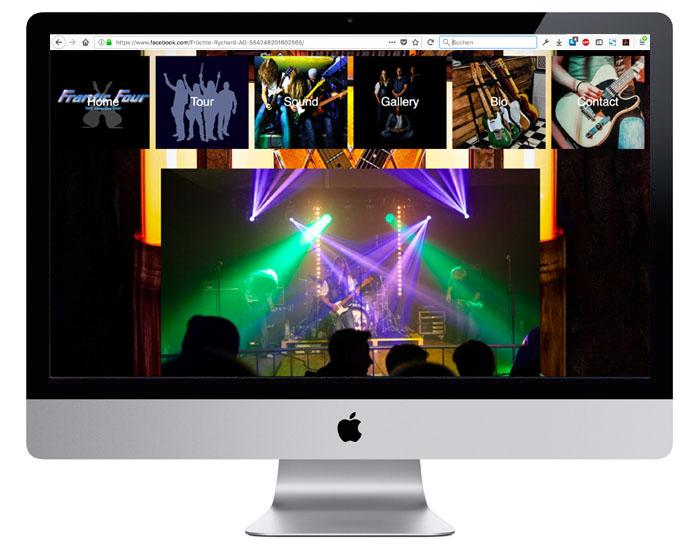 Webdesign für die Status Quo Cover-Band Frantic Four durch Egli-Werbung