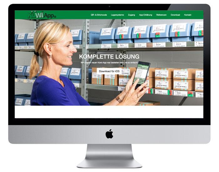 Design der Landingpage für die Küwi AG durch Egli-Werbung